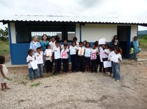 Aula nueva de La Morrocoya de Morichalito (Venezuela). Año 2011.