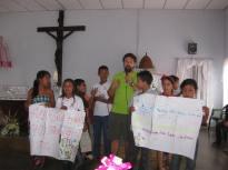 Los niños de Morichalito en una Celebracion religiosa
