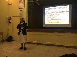M. Ana Rosa en la charla formativa 2017