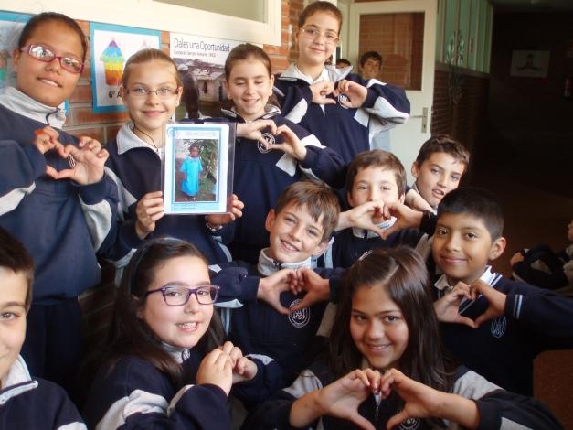 Niños de Burgos con su Apadrinado