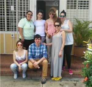 M. Dayana con los alumnos de prácticas