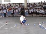 Alumnos en celebración religiosa