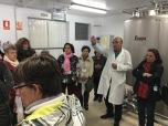 Visitando una fábrica de quesos