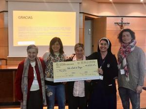 M. Ana Rosa con las voluntarias de la Sede Local de Burgos