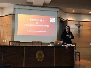 Ana Rosa en el X Encuentro de Voluntarios